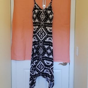 INC casual black/white long maxi dress